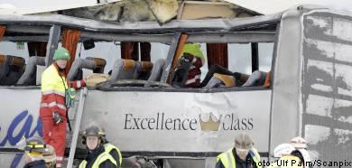 Russian tourist bus in major crash