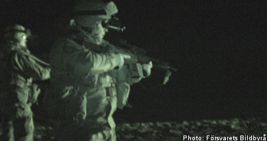Swedish troops under fire in Afghanistan