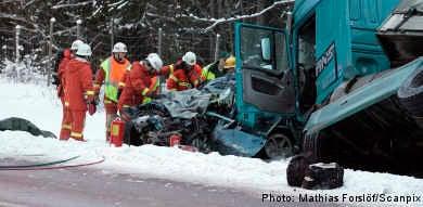 Four die on icy roads