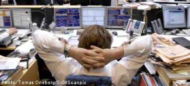 Stockholm market falls after bad US figures
