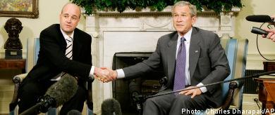 Reinfeldt, Obama…and Bush