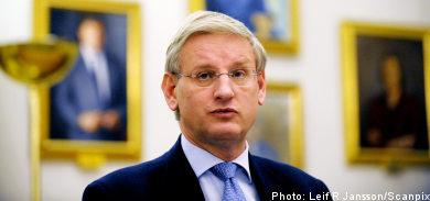 Bildt presents foreign policy in Riksdag