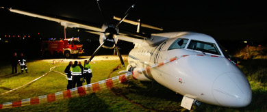 Passengers uninjured after plane crash in Germany