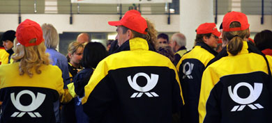 Postal workers strike in seven German states