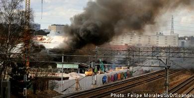 Train disruption after Sollentuna garage fire