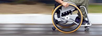 German police stop man in runaway wheelchair