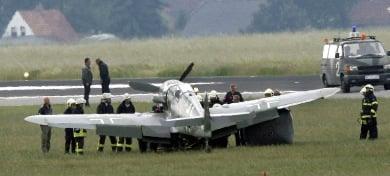 Messerschmitt mishap briefly shuts Berlin airport
