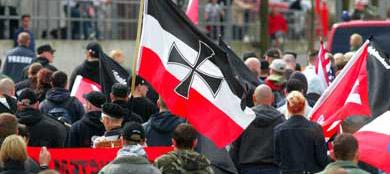 German neo-Nazis celebrate Israeli national identity