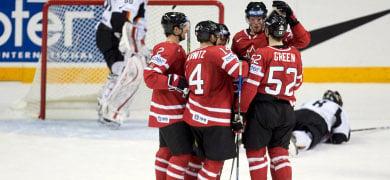 Canada crushes Germany at ice hockey championship