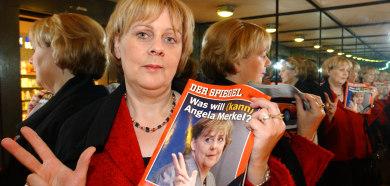 Merkel double seeks own office
