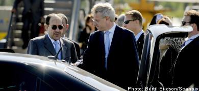 Iraqi prime minister arrives in Sweden