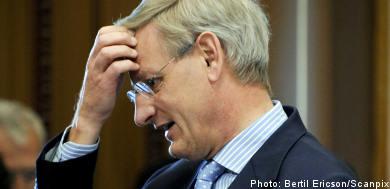 Bildt struggles to crack Belgian nut