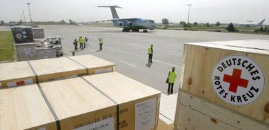 First German aid arrives in Burma