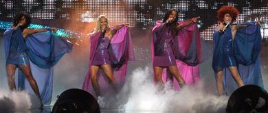 Germany's No Angels tank at Eurovision