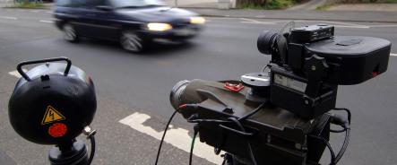 Speedy German woman steals police radar camera