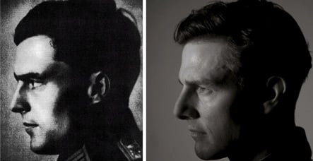 Stauffenberg photo allegedly altered to resemble Tom Cruise