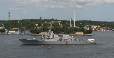 Famed US warship docks in Stockholm