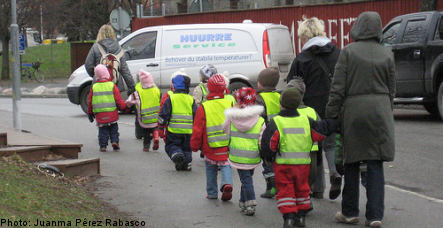 Stockholm awash with inner city children