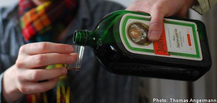 Drunken officer drove with bottle of Jägermeister in his lap