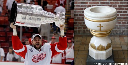 Stanley Cup makes baptism tour of Sweden
