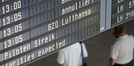 Pilots go on strike at Lufthansa units