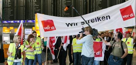Lufthansa on schedule despite massive strike