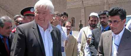 Steinmeier examines Afghan security commitment