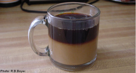 Coffee machine milk 'like washing powder'