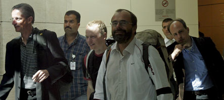German climbers freed by Kurdish rebels arrive home