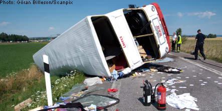 German teenagers hurt in Linköping coach crash