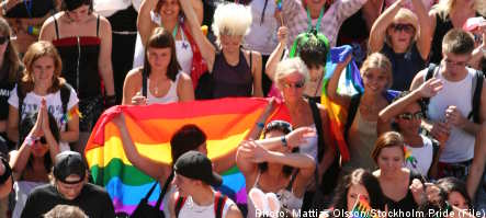 Record Stockholm Pride parade despite rain
