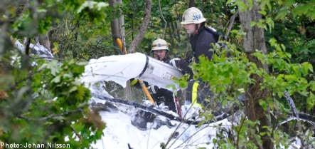 Airplane crashes near Stockholm
