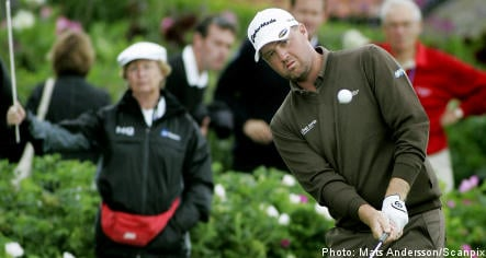 Hanson shares lead at Stockholm Open