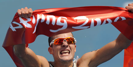 Frodeno wins surprise triathlon gold