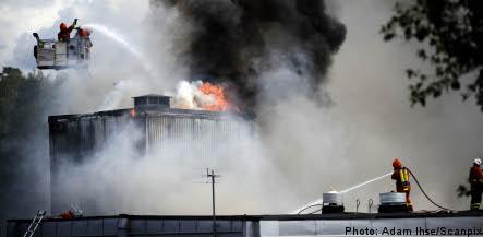 Arson suspected in major industrial fire