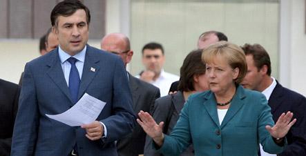 Merkel backs Georgia's NATO bid