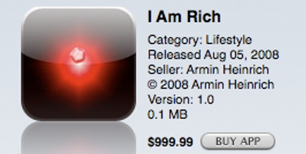 German developer causes ruckus with $1,000 iPhone app