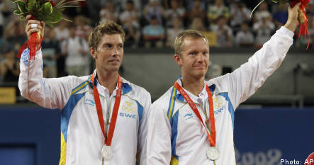 Silver for Sweden in tennis doubles