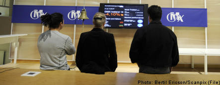 Swedish markets drop as crisis fears mount