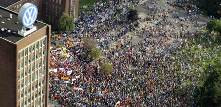 VW union stages massive protest against Porsche and EU