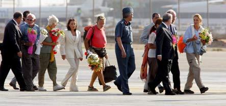 German tourists back home after desert ordeal