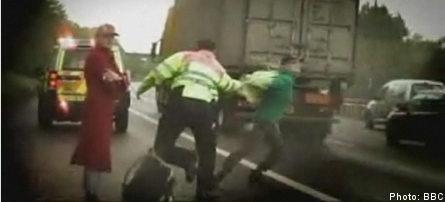 Swedish twin sisters in UK motorway madness