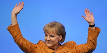 Merkel wishes she could be a gymnast