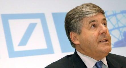 Deutsche's Ackermann calls for European financial safety net