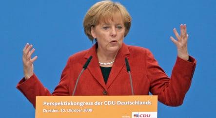 Merkel demands international rules for financial markets