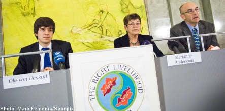 'Alternative Nobel' to Indian, US, Somali and German activists