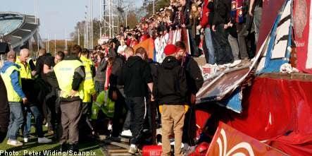 Football fans injured in bleacher collapse