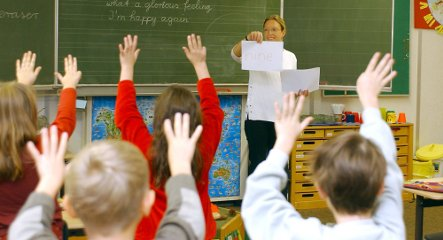 More German students learning English