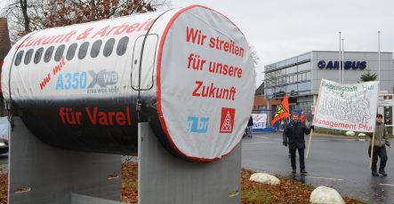 German Airbus plants hit by wildcat strike