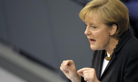 Merkel pressures banks to tap rescue packages
